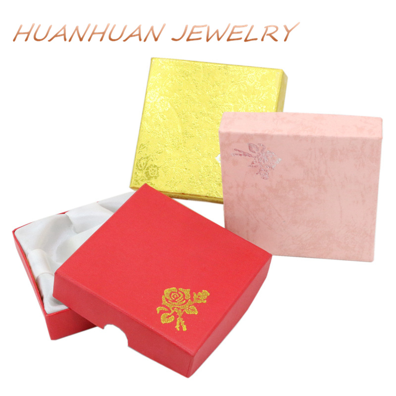 Storage Square Shape Paper Casket Jewelry Box Wedding Party Gift Earrings Ring Necklace  ...