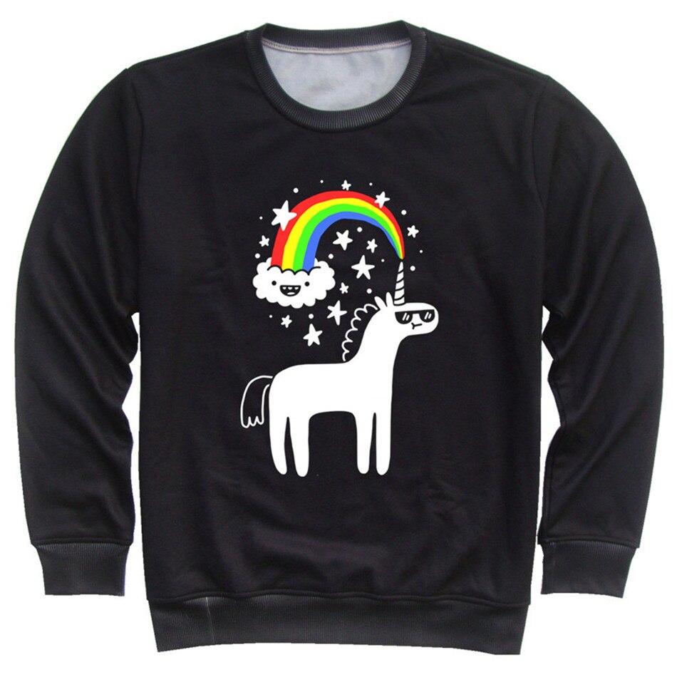 Joyonly Children 3d Print Cat Dinosaur Unicorn Cloud Rainbow Hoodies Kids Fleece Sweatshirt 2018 Boys Autumn Girls Clothing Tops