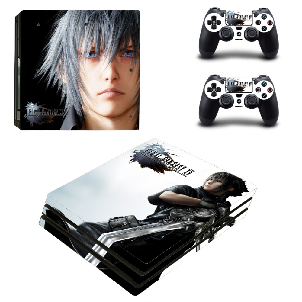 PS4 Pro Skin Sticker Final Fantasy XV Decal For Playstation 4 Pro Console + Controllers