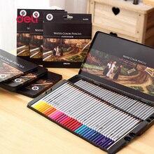Deli Канцелярские принадлежности 72 Цветов Набор цветной карандаш для Рисования Живопись Эскиз Жестяной Коробке Искусство школьных Принадлежностей Профессиональный карандаш