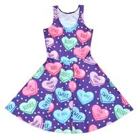 Sweet Heart Design Sexy Women Tennis Sports Pleated Dress Vogue Slim Elastic Girls Lovely Skater Dresses
