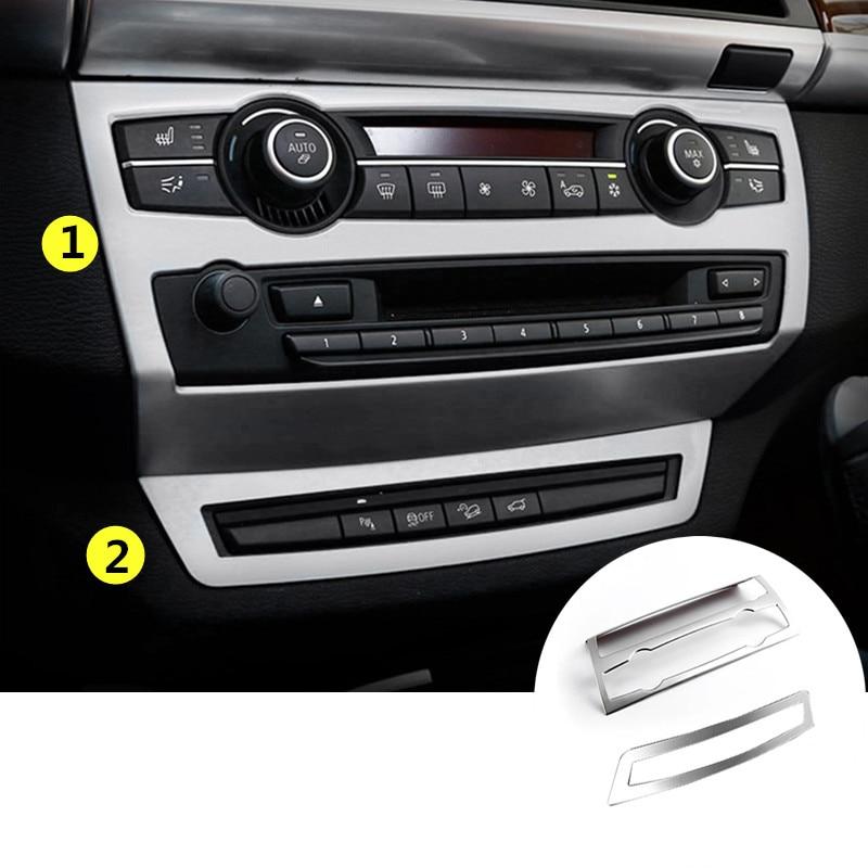 ФОТО For BMW X6 E71 Interior Center Console Panel Cover Trim 2009-2014 2pcs