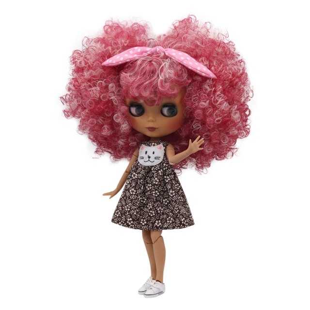 ICY Fortune Days factory blyth doll dark skin joint body New matte face Cute mixed color explosion head DIY sd gift toy
