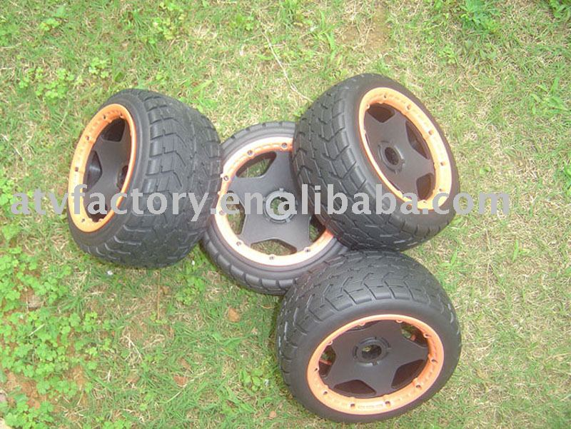 Mounted Tarmac Buster Rib Tire set big rib