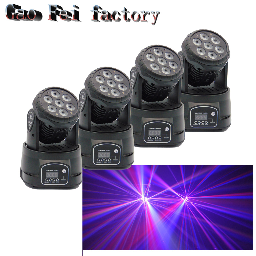 Led Moving Head Wash 7x12w 7*12w Mini Music Sound Light Stage Christmas Party lumiere Laser Show Disco Dj Dmx Lamp Rgbw 8 units led moving head dmx wash 18x3w mini music sound light stage christmas party lumiere laser show disco dj dmx rgb light