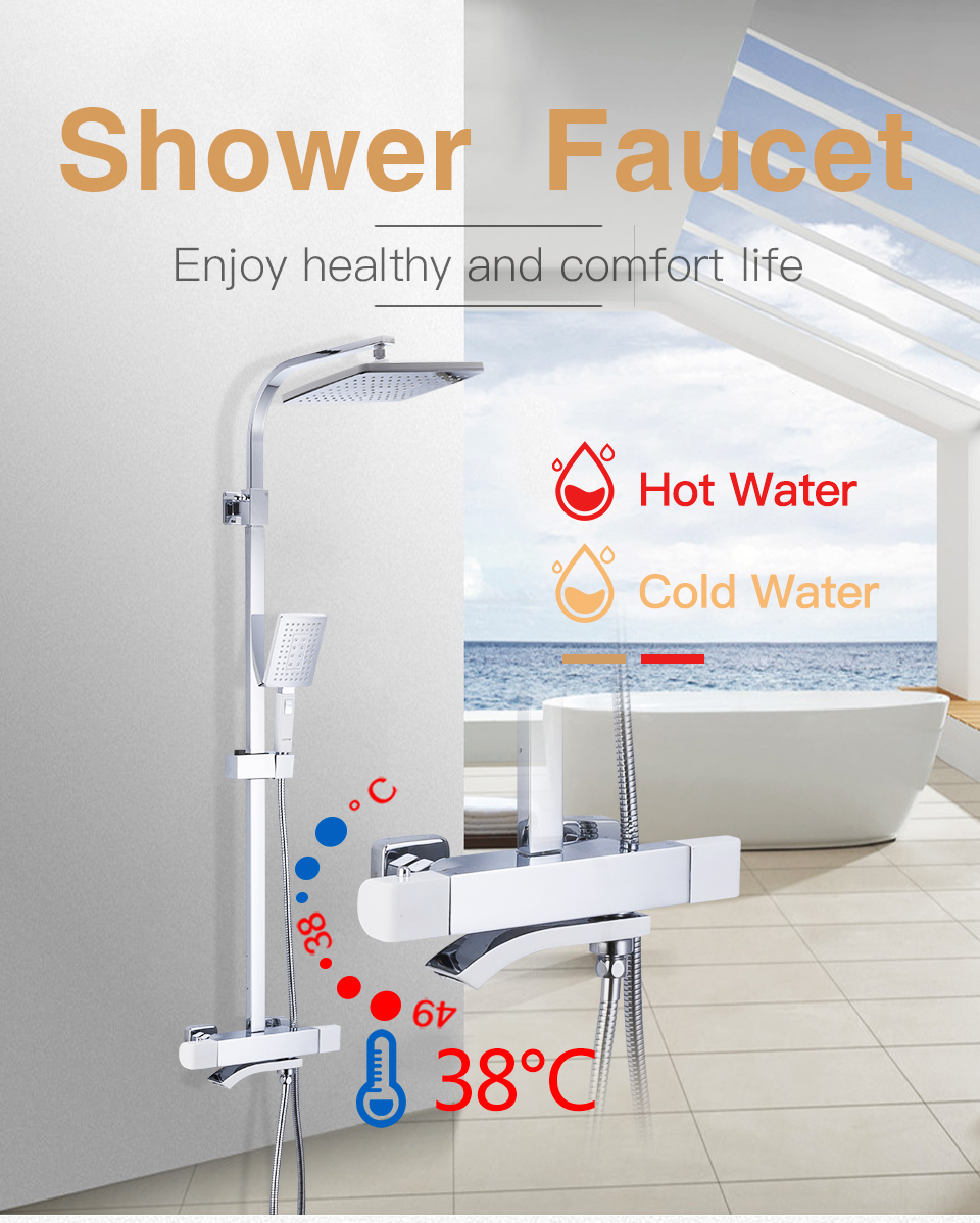 GAPPO sistema thermostic Banheiro Chuvas chuveiro Torneira