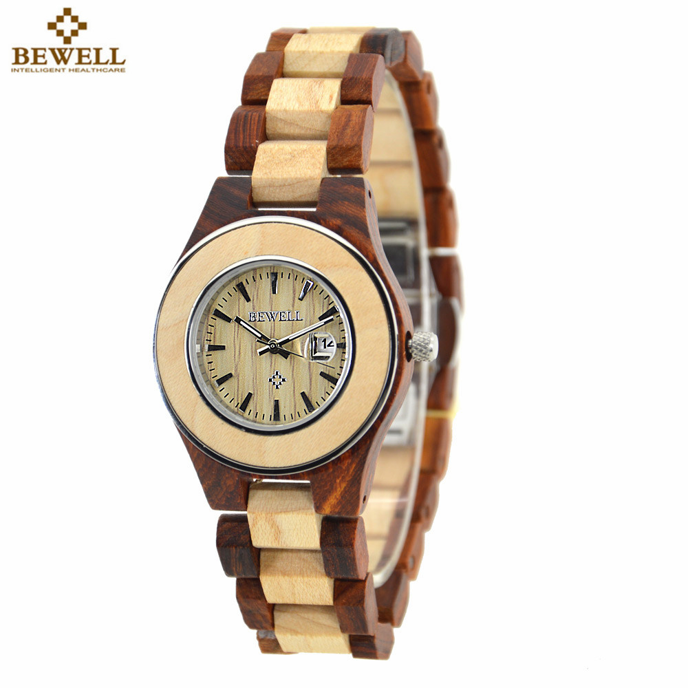 BEWELL Hand-made Women Elegant Watches 2017 Top Brand Waterproof Watch Ladies Luxury Wooden Quartz Wristwatches With Paper Box managing projects made simple