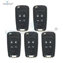 Remtekey 5 шт чехол для ключа buick chevrolet cruze 4 кнопки