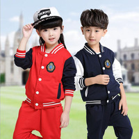 KIds Primary School Uniforms Teenage Children Clothing Set Sport Suit For Boys Girls Baseball Suit Kids