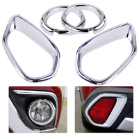CITALL 4pcs ABS Chrome Car Front Rear Fog Light Lamp Cover Trim Fit For MITSUBISHI Outlander