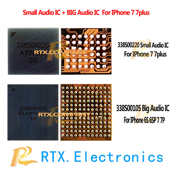 338S00220 338S00105 For IPhone 7 7Plus 7P U3502 U3101 Small Audio IC Big Audio Controller Microphone