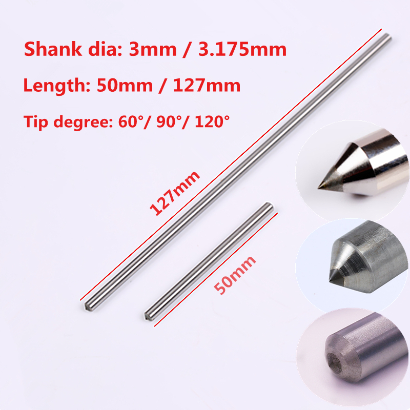 10pcs lot Drag engraving bit dremel engraver use 3mm 3 175mm diamond engraving bits
