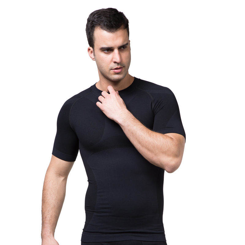 Slimming Mens Body Shapers Trainer Shapewear Undershirt Sexy T-Shirt Summer Tops Corset Compression Belly Waist Burning 40%W