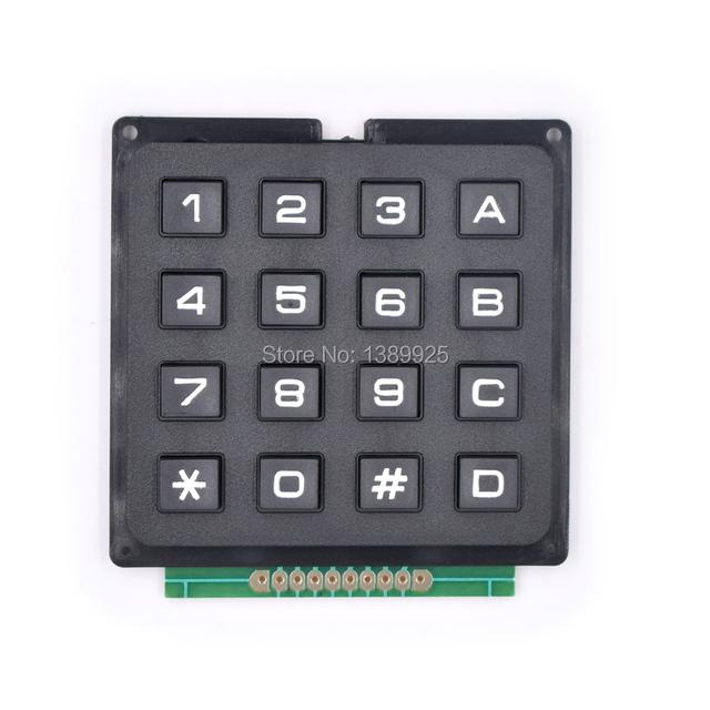 5 unids/lote 4X4 Módulo de Teclado con 16 Teclas de Teclado Matricial 4*4 Llaves Interruptor De Plástico para Ar-du-ino Controlador