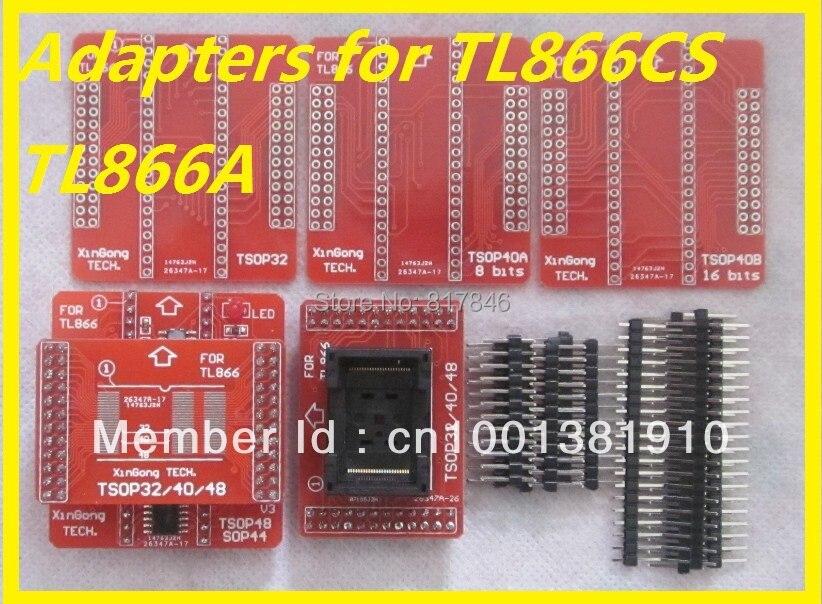 Free Shipping 6pcs set TSOP32 40 48 IC Adapter Socket TSOP32 TSOP40 TSOP48 Sockets for Universal