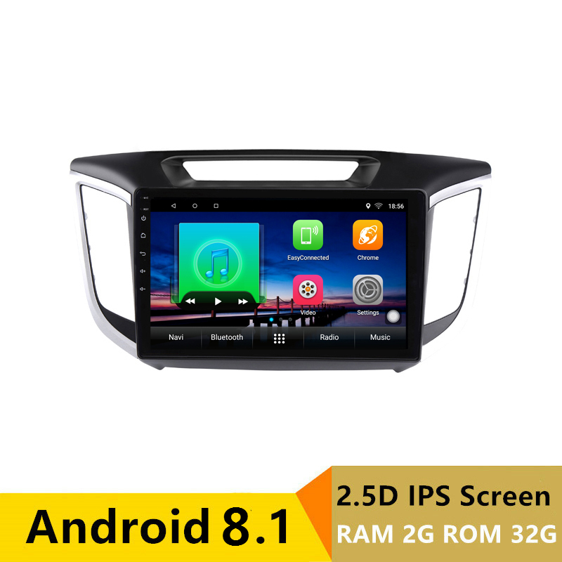 "10.1"" 2G RAM 32G ROM Android 2.5D IPS Car DVD Video Player GPS For HYUNDAI IX25 CRETA audio car radio stereo navigation"