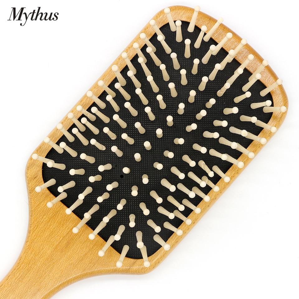 Mythus Wooden Paddle Hårbørste Luftpute Pensel Kam For Hår - Hårpleie og styling - Bilde 6