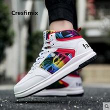 Cresfimix baskets hommes unisex plus size autumn lace up high shoes male casual street sneakers men fashion cool shoes a3281