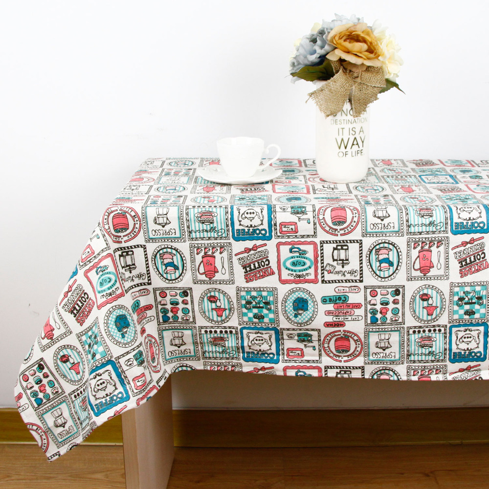 High Quality Car Printed Cotton Linen Blackout Curtain: Vintage Europe Print High Quality Tablecloth For Dinner