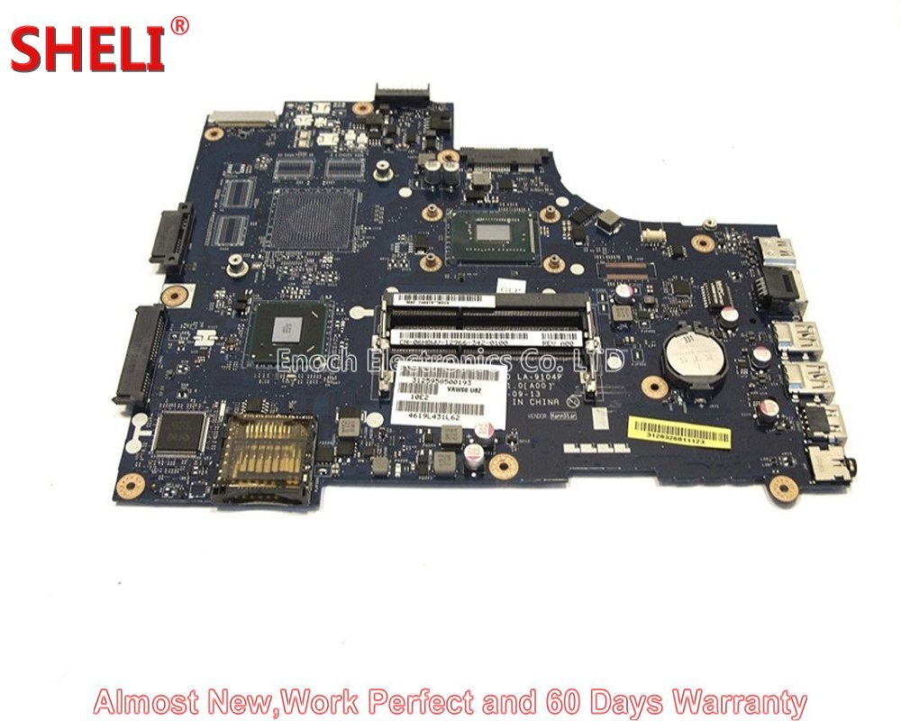 SHELI For Dell Inspiron 15 15-3521 5521 Laptop Motherboard 6H8WV 06H8WV CN-06H8WV 1007U 1.5Ghz CPU LA-9104P work perfect мини печь clatronic mbg 3521