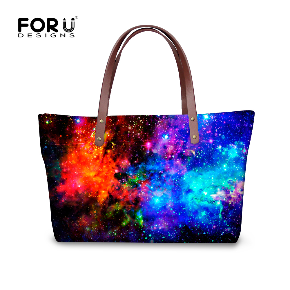 ФОТО Famous brand galaxy star space handbag bags for female mulit-function big crossbody bag travel large tote women top-handle bags
