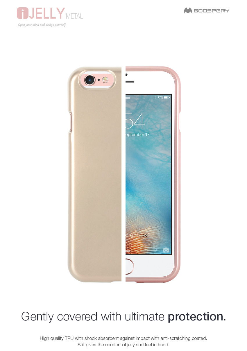 Mercury Goospery I Jelly Tpu Bumper Case Slim Metallic Cover For Iphone 8 Plus Soft Feeling With Hole White Difference In Color Metal