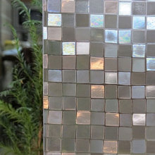3D Mosaic Window Film Non-Adhesive Static Cling Heat Control Privacy Glass Sticker Opaque Office Bathroom Home Decorative Films