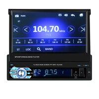 Авто радио Bluetooth gps Автомобильный мультимедийный MP5 плеер автомобиля Радио 1din 7 HD Сенсорный экран AUX IN MP3/FM/ USB резервного копирования заднего
