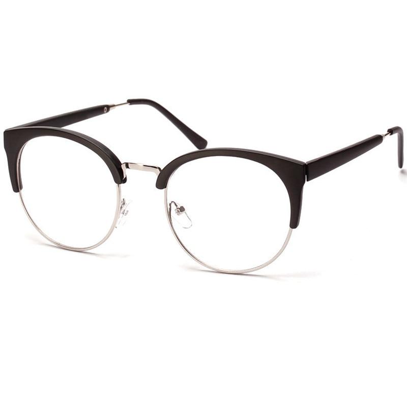 aliexpresscom buy eyeglasses cat eye glasses frames men women vintage half frame myopia clear lens glasses female retro spectacles eyewear oculos from