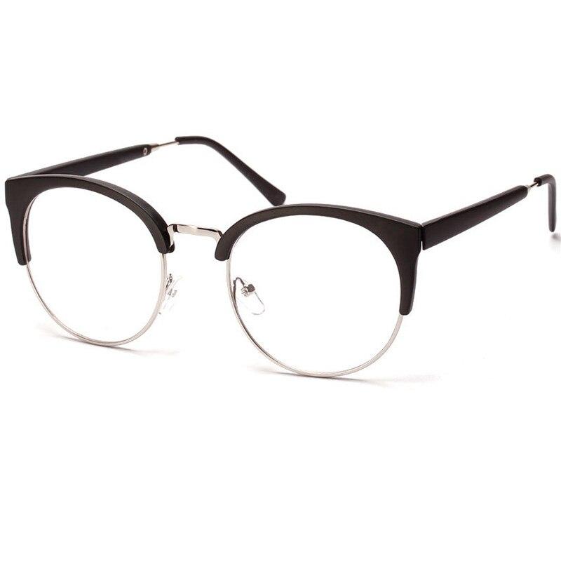 Half Frame Cat Eye Reading Glasses Optical Eyewear Vintage Eyeglasses Frames For Women Brand