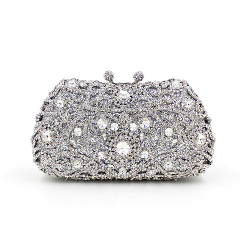 Fashion Crystal Clutches Evening Bags Women Party Purse Luxury Clutch Bag Ladies Wedding gold Chain HandBag free shipping a15 36 sky blue color fashion top crystal stones ring clutches bags for ladies nice party bag