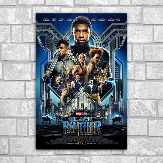 Posters And Prints 2018 Black Panther Movie Poster Wall Art Canvas