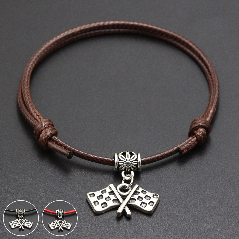 2020 New Target Destination Pendant Red Thread String Bracelet Lucky Black Coffee Handmade Rope Bracelet for Women Men Jewelry