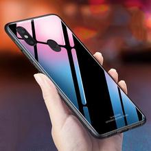 Dla Xiaomi Redmi Note 5 sprawa luksusowe szkło hartowane silikonowe ramki twarda okładka dla Xiomi Xiaomi Redmi Note 5 Pro przypadki Note5 tanie tanio Mięśni Walizka dopasowana Odporny na zabrudzenia anty-Knock Redmi Note 5 Pro Redmi Uwaga 5 Egzotyczny błyszczący zwykły szkło hartowane
