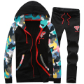 Hot selling skull print men hoodies suits  track suit Black Navy Gray M L XL XXL CB250