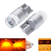 2Pcs T10 194 168 W5W 2825 3030 Amber Orange Yellow LED Bulbs For Auto Interior Map Dome Light Car Parking Position Lamps 12V цена 2017