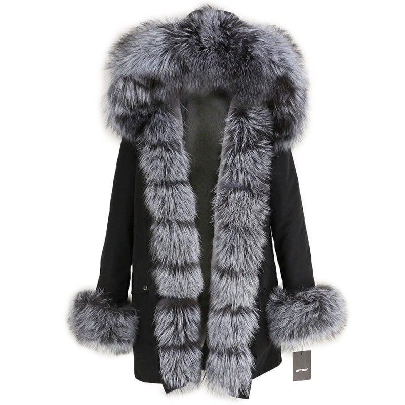 OFTBUY Waterproof Long Parka Winter Jacket Women Real Fur Coat Natural Fox Fur Collar Hood Thick Warm Streetwear Detachable New 79