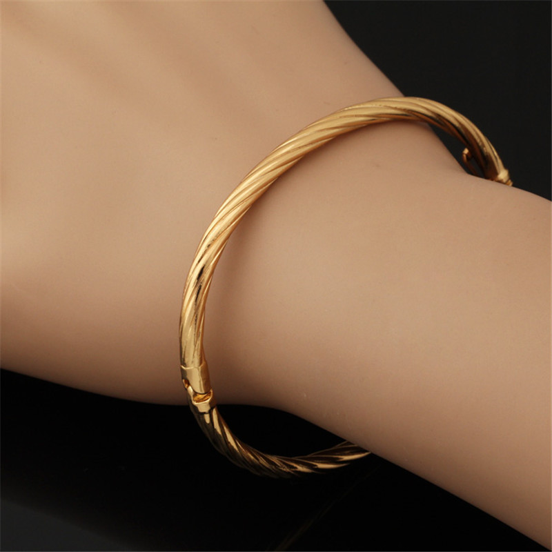 twisted gold bangles color qg bangle bracelet tri
