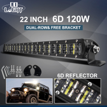 CO LIGHT Super Slim 6D LED Work Light Off-Road 22 120W Spot Flood Combo Beam Led Car for Truck SUV ATV Boat 4x4 12V 24V
