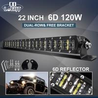 CO LIGHT Super Slim 6D LED Work Light Off Road 22 120W Spot Flood Combo Beam Led Car Light for Truck SUV ATV Boat 4x4 12V 24V