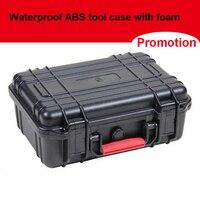 ABS Alet çantası araç kutusu Darbeye dayanıklı mühürlü su geçirmez güvenlik çantası ekipmanları kamera kılıf ile önceden kesilmiş köpük 263 x 206x106mm
