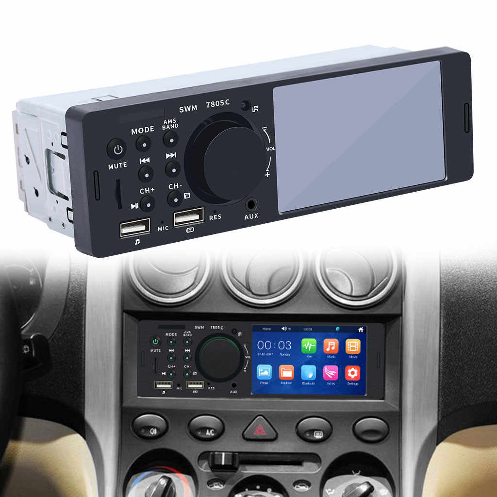 "OMESHIN MP5 Auto reproductor multimedia doble dentro USB Bluetooth de Audio de coche Radio Multimidia MP5 12V FM HD 4,1"" pantalla táctil estéreo Jly16"