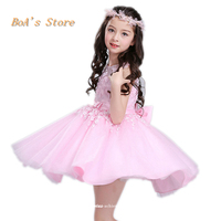 3 Layers Tulle Baby Dresses For Girls Clothes Girls Dress With Vintage Floral Summer Party Wedding