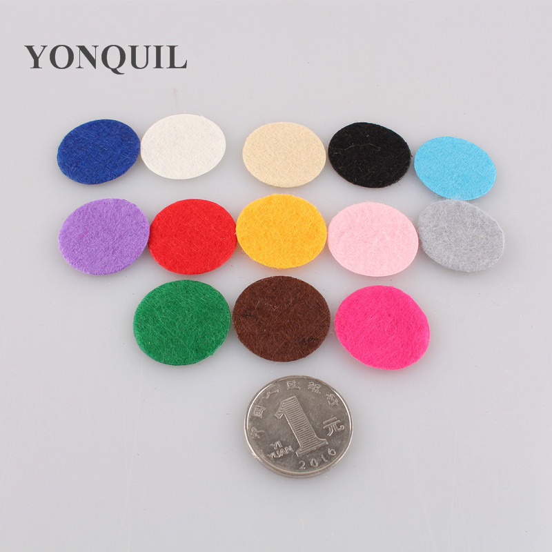 Free shipping multiple color for select 3*3cm Round Felt accessory patch, good as flower pads,USD7.88/LOT,1000PCS/LOT
