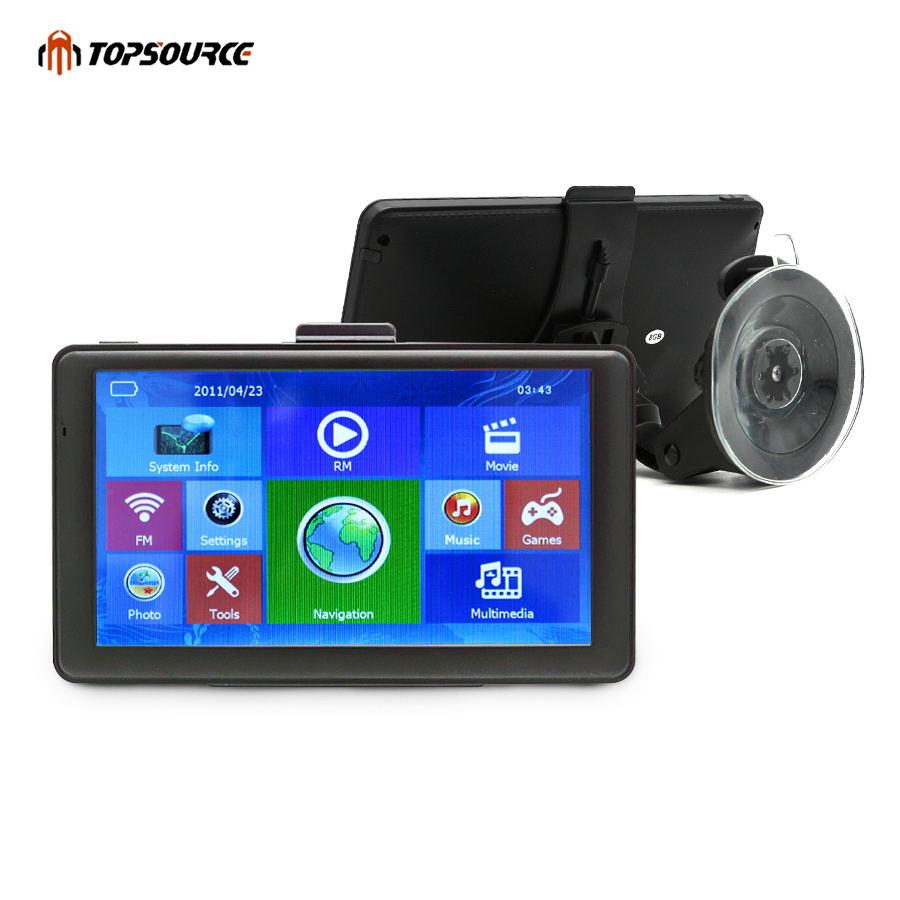 TOPSOURCE WINCE Car GPS Navigation 256M WIFI FM automobile navigator sat nav navitel/Europe/USA/Russia/UK Free map topsource 7 inch car gps navigation android 8gb avin automobile navigator europe usa russia spain navitel map truck gps sat nav