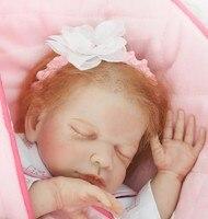 20 дюймов силикона Reborn Baby куклы реальные touch спальный принцессы в одеяло моделирование lifelike Reborn куклы дети для подарка