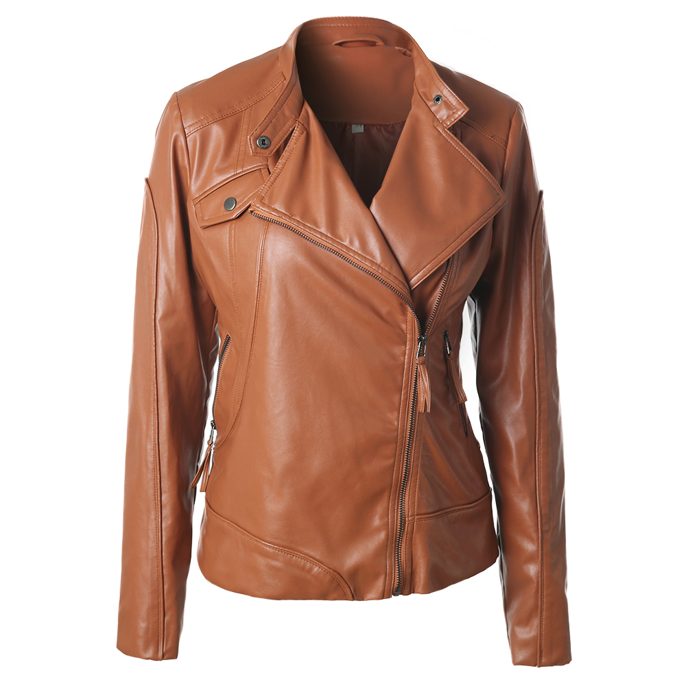 Jackets and Coa... Leather Jackets For Women Light Brown