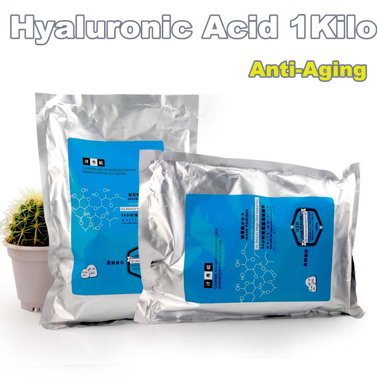 1Kilo Hyaluronic Acid Mask Powder Anti Aging Agless Moisturizing Soft  Rejuvenation Beauty Equipment Free shipping spa quality hyaluronic acid soft powder face mask anti aging peel off facial treatment beauty salon equipment 1000g 1kg