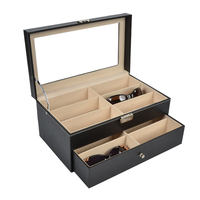2019 New 20 Grids Jewlery Box Glasses Case Sunglasses Box Glasses Box Sunglasses Organizer Holder Sunglasses Storage Box