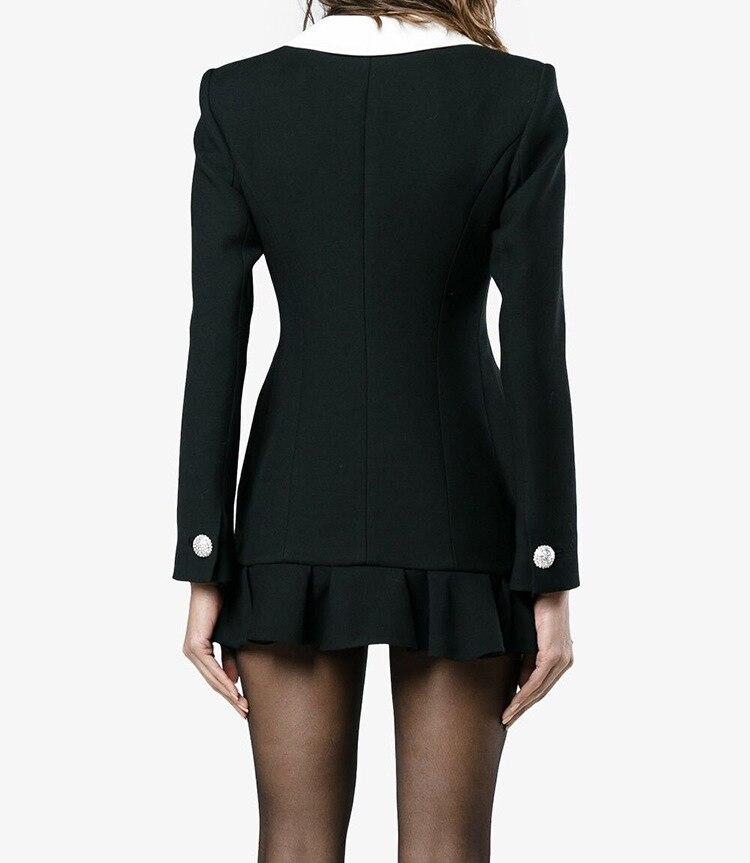 Haute Solide D3012 Mode D'affaires Qualité Offlice Manteau Boutons Piste 2018 Costume De Dame Imprimer Femmes Mince Outwear Printemps Nouvelles Ruches rrgRA